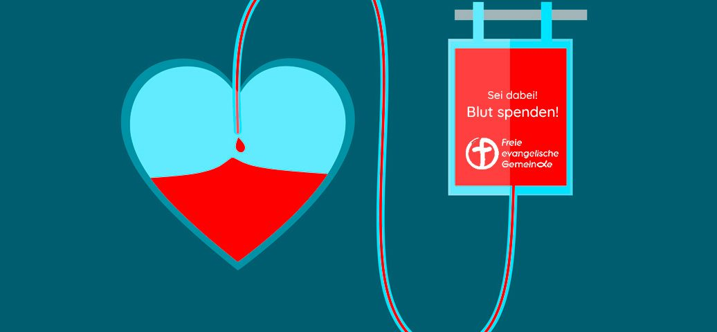Blut spenden rettet Leben!